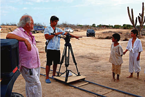 Camera crew on La Ahorcadita, Todos Santos, Baja, Mexico
