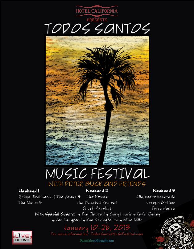 Todos Santos Music Festival 2013 poster, Baja, Mexico