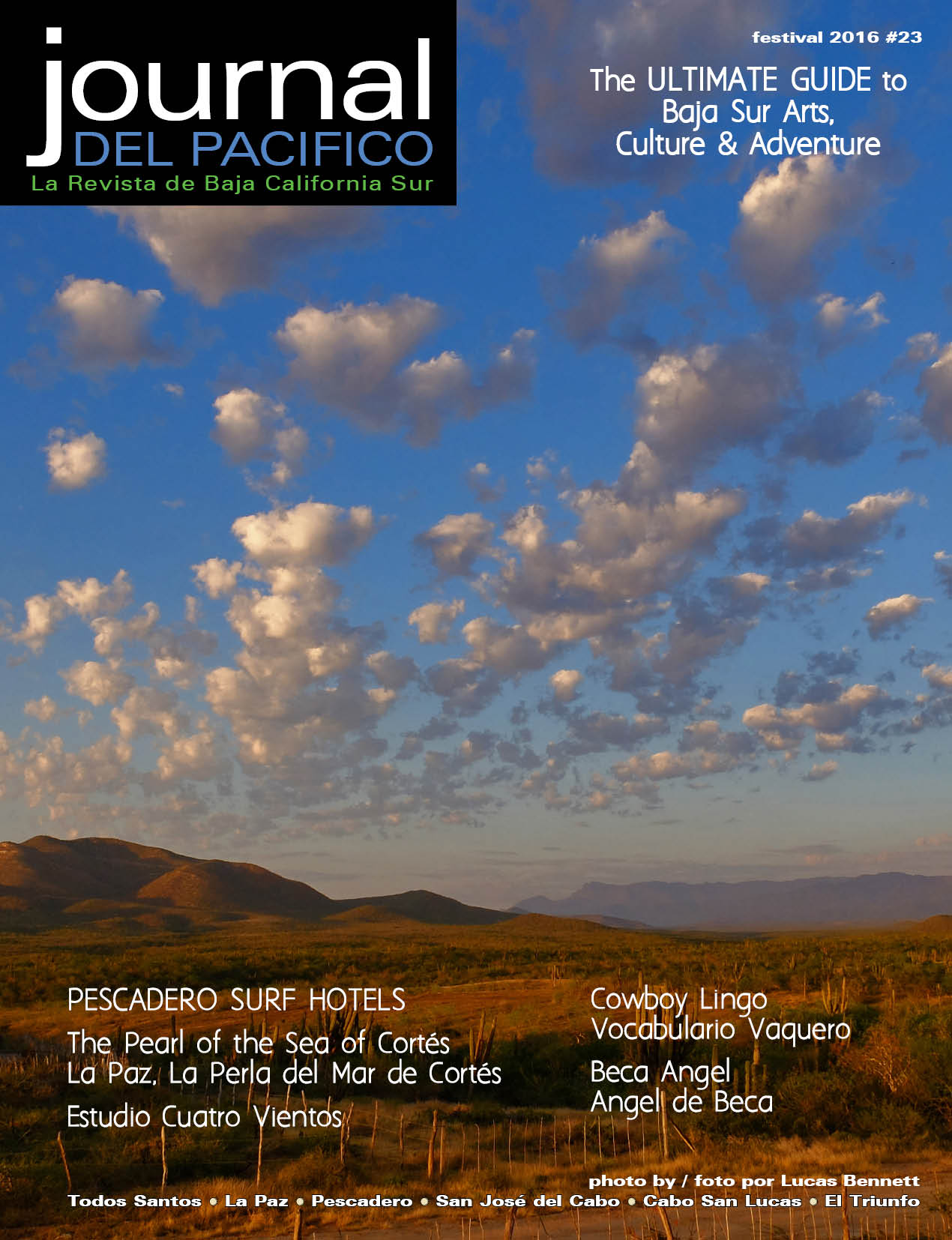Festival 2016 Issue of Journal del Pacifico