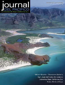 Spring Issue Cover Journal del Pacifico Balalandra Beach North of La Paz, from the air