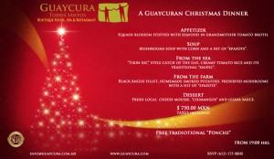 Hotel Guaycura Navidad menu, Todos Santos, Baja, Mexico