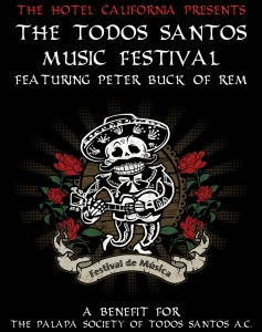 Todos Santos Music Festival with Peter Buck of REM logo