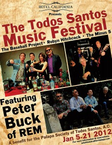 Todos Santos Music Festival Poster with Peter Buck of REM
