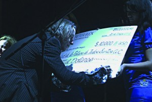 Peter Buck sign check at the First Todos Santos Music Festival