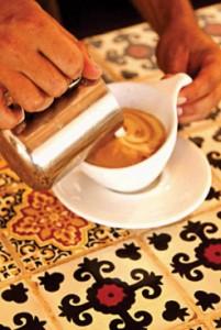 Latte art, Baja Bean, Pescadero, Baja, Mexico