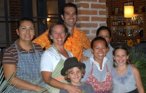 Carolen, Windspirit, family and crew at Wind and C, Todos Santos, Baja, Mexico