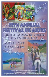 East Cape Festival de Artes Poster 2012,  Los Barriles, Baja, Mexico