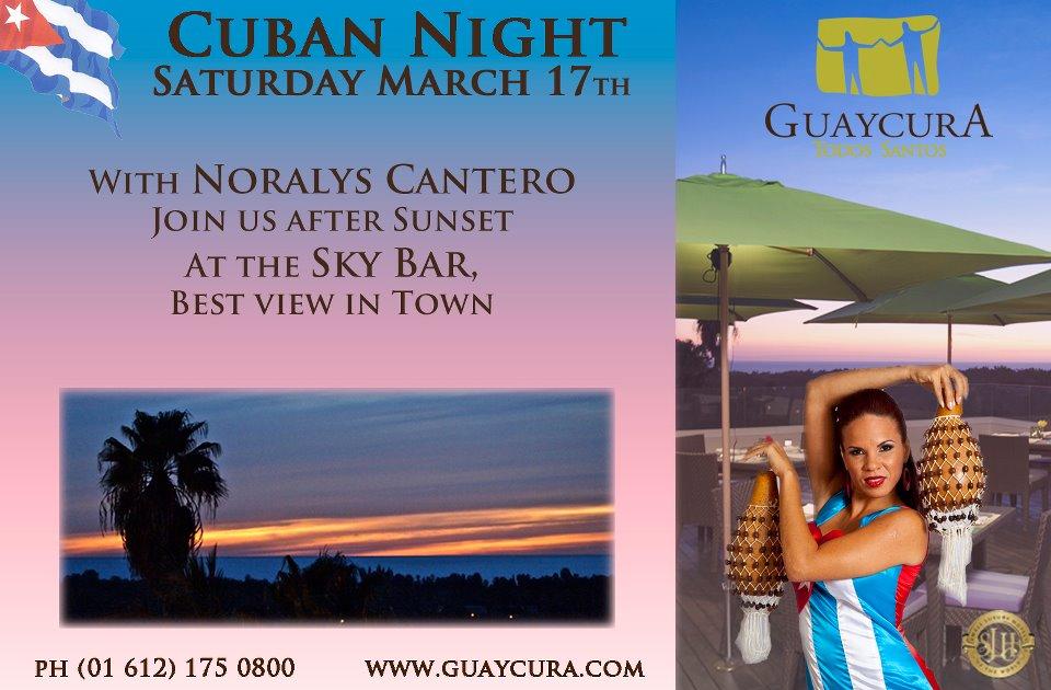 Hotel Guaycura Cuban night with Noralys Cantero, Todos Santos, Baja, Mexico