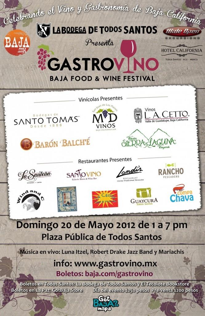 GastroVino Festival Poster, Todos Santos, Baja, Mexico