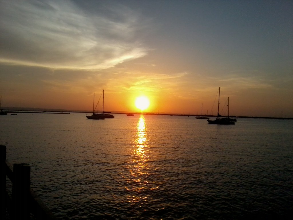 Sunset over La Paz bay, Baja, Mexico