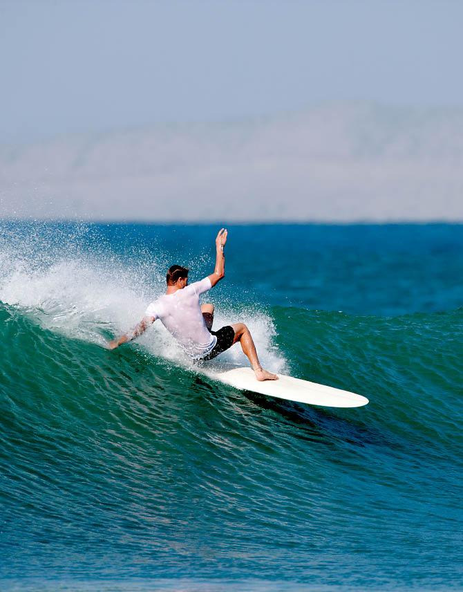 Surfing Baja, Baja, Mexico