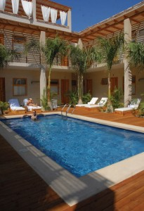 Hotel Casa Tota pool, Todos Santos, Baja, Mexico