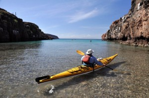 BOA kayak on the Sea of Cortes, La Paz, Baja, Mexico