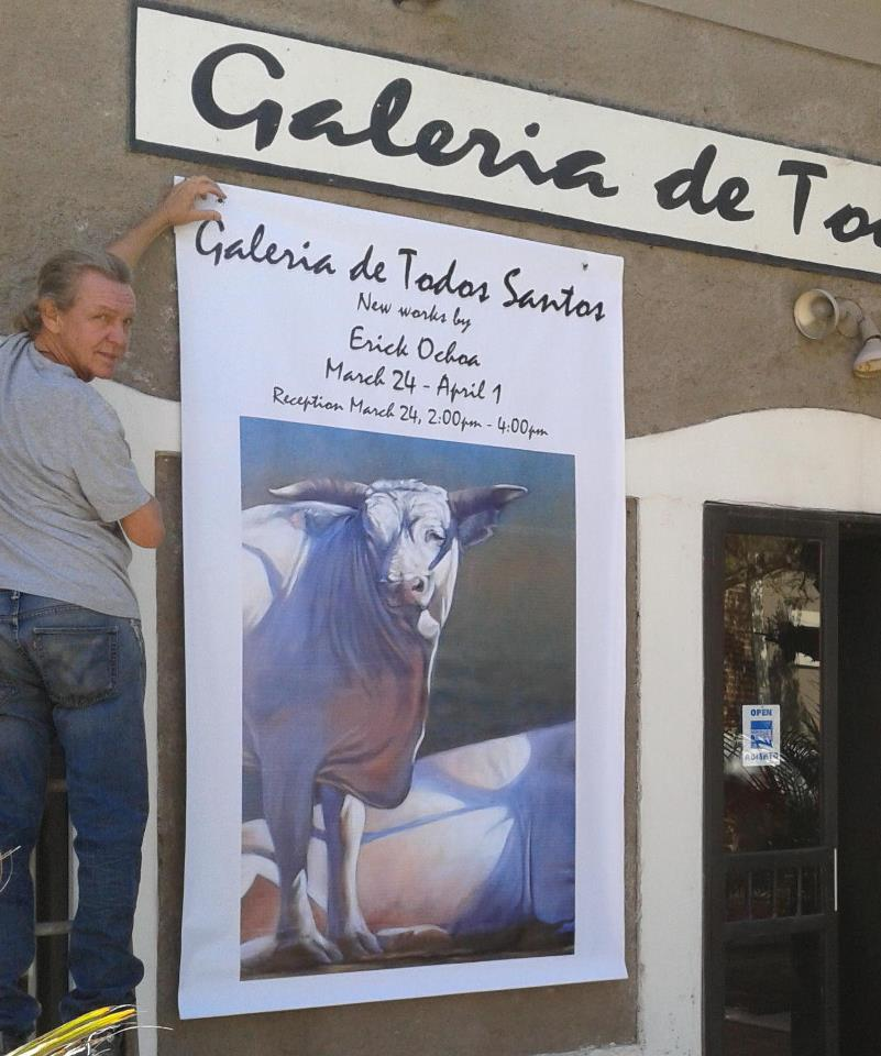 Erick Ochoa art opening at Galeria de Todos Santos