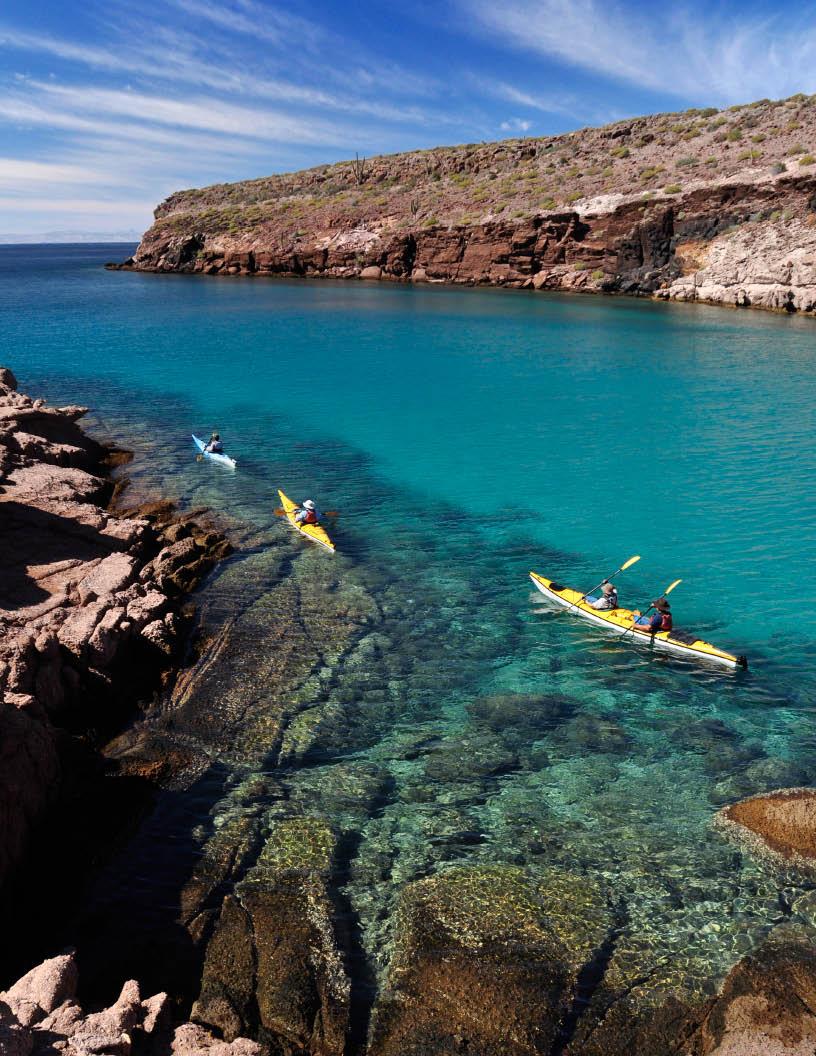 Kayaking on the Sea of Cortez with BOA
