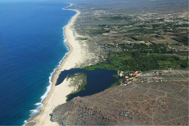 Todos Santos coastline by Claude Vogel, Baja, Mexico