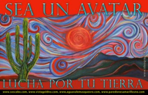 """Be An Avatar, Fight For Your Land."" Poster of the Sierras by Nanette Hayles"