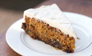 Carrot cake from Baja Beans Roasting Company, Baja, Mexico
