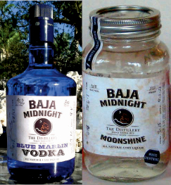 Baja Midnight Vodka and Moonshine from The Distillery, Todos Santos, Baja, Mexico