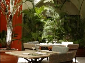 """""""El Jardin"""" restaurant, Guaycura Boutique Hotel, Todos Santos, Baja, Mexico"""