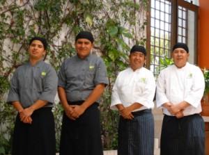 The professional chefs of Grupo Gastronomico Guaycura, Todos Santos, Baja, Mexico
