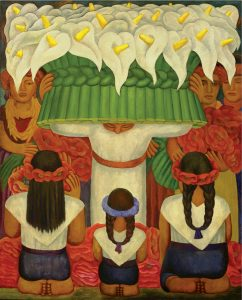 """""""Flower Festival Feast of Santa Anita"""" by Diego Rivera"""
