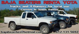 Baja Beaters Renta Yota, Todos Santos, Baja, Mexico
