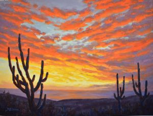 """Baja Sunset,"" 24"" x 18"" by Robert E. Wood"