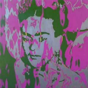 "Assad-Wickham ""Frida"" 80 cm x 80 cm acrylic on plywood"